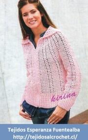 Crochet suéter. Chaleco tejido al crochet de puntada tupida