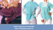 Patrones de ponchos y capas. 2 increíbles diseños para tejer con gancho