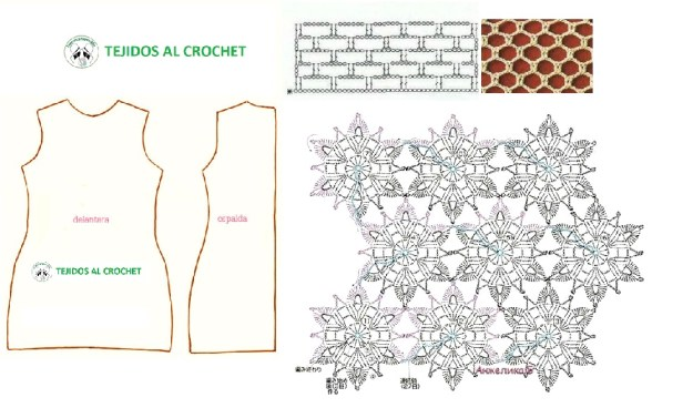 Patrones de vestidos tejidos1