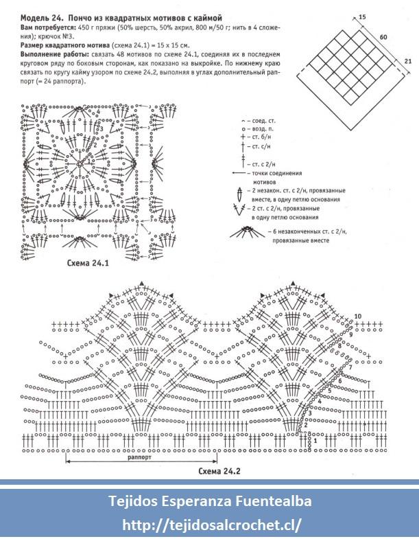 Poncho crochet1