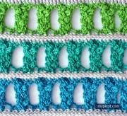 Puntos para tejer a crochet. Puntada muy novedosa y muy útil
