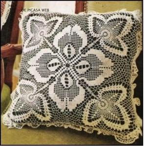 Tejido crochet almohadones