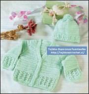 Tejidos al crochet para bebes. Patrón de linda camperita de bebe tejida