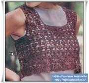 Tejidos artesanales. Patrón de una remera divina para tejer en crochet