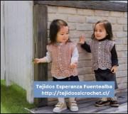Tejidos para niñas pequeñas. Hermoso diseño de chaleco a crochet