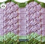 Tutorial de puntos a crochet. Una puntada de fantasía del crochet