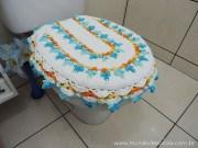 Tutorial para crochet. Tejiendo una hermosa tapa para baño paso a paso