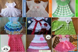 Vestidos crochet niña