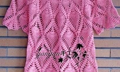 Blusa crochet con gráfico gratis