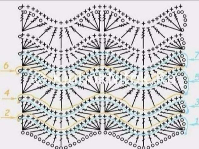 Blusa de ganchillo con estampado de zig zag1