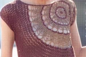Blusas tejidas a crochet bonita