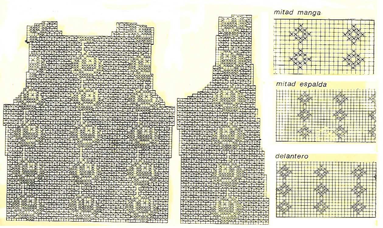 Chaleco crochet calado media manga1