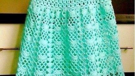 Patrón vestido niña crochet