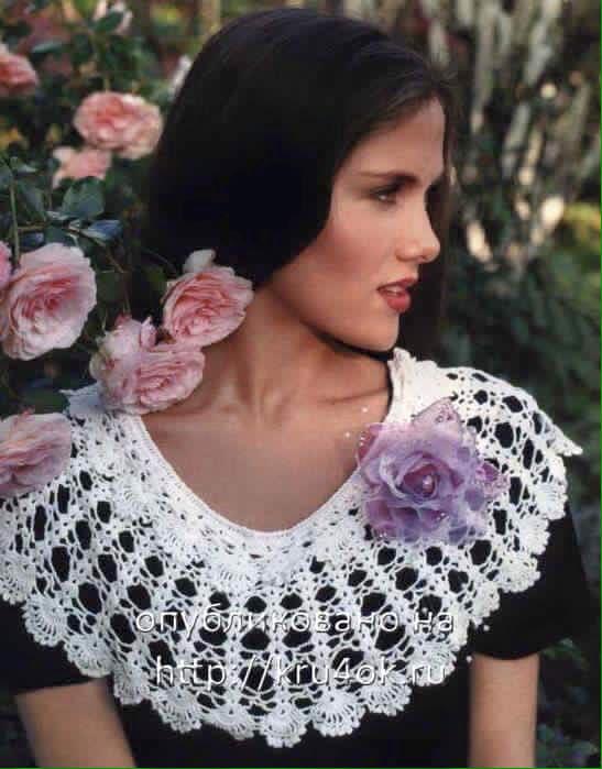 Patron accesorio crochet cuello para blusas