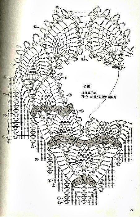 Polera crochet cuello piña1