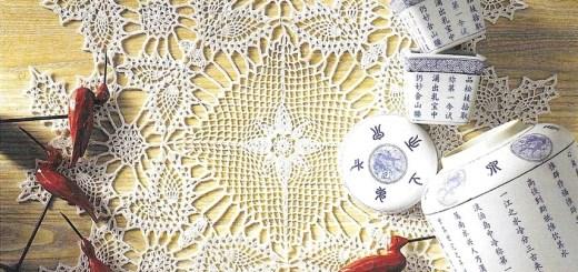 Tapete crochet mariposa