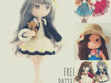 tres muñecas amigurumi crochet