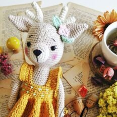 Niña Ciervo amigurumi Tejidos crochet