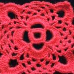 Crochet : Motivo Cuadrado # 1