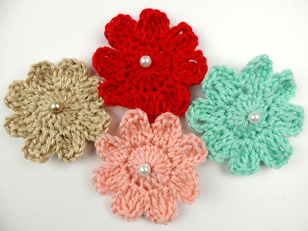 Crochet motivos flores y cuadrados tejiendo de corazon - Aplicaciones a ganchillo ...