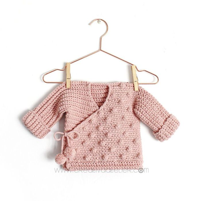 patrón gratis chaqueta o kimono bebé