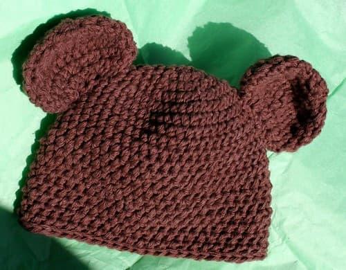 Patrón gratis gorro bebé osito crochet