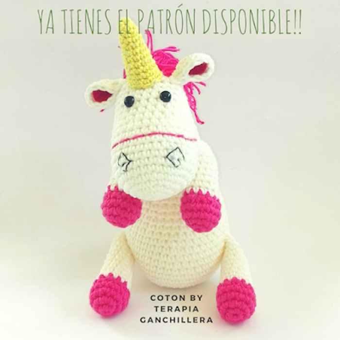patrón gratis unicornio amigurumi crochet