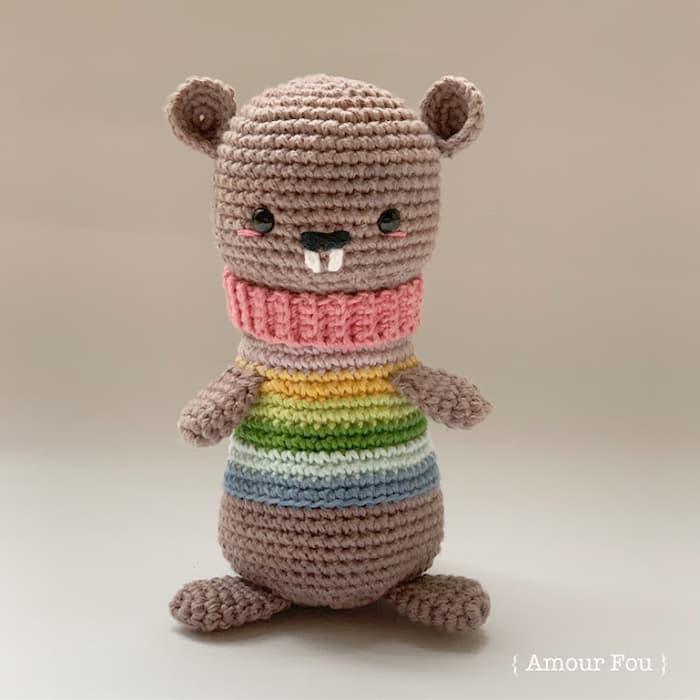 Patrón gratis marmota Rita amigurumi crochet