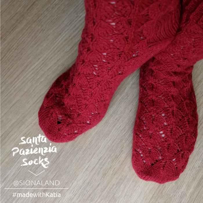 Patrón gratis calcetines toe up dos agujas