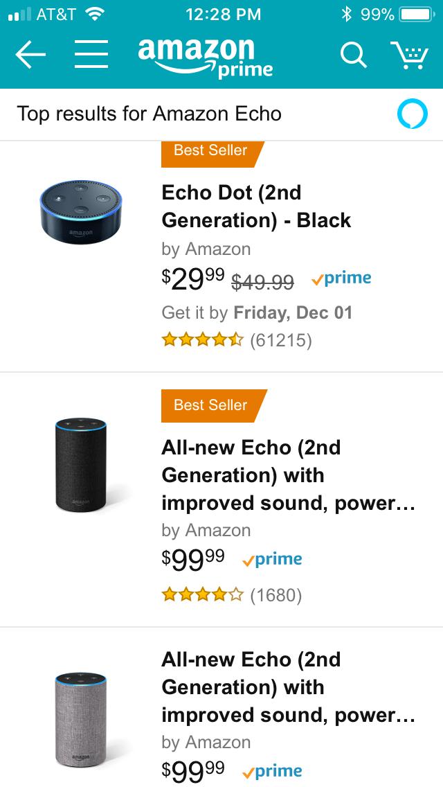 AMZN Echo search