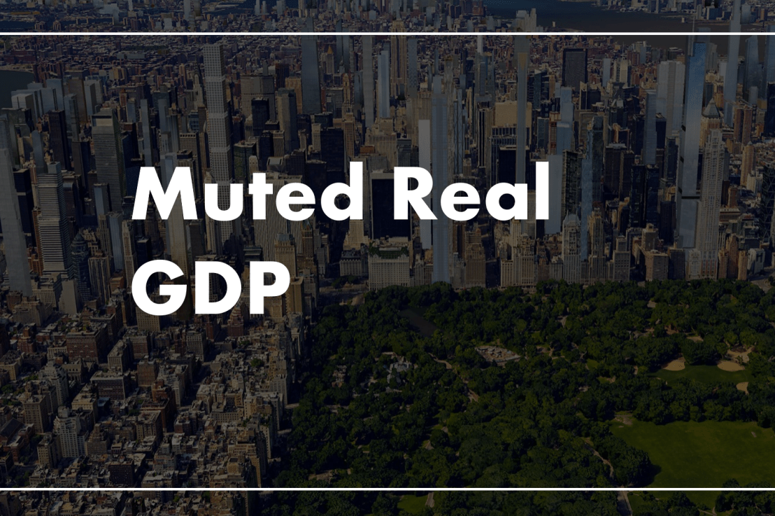 Real GDP Growth Remains Muted
