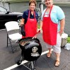 Cheryl and Toni grilling lunch for summer session participants