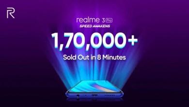 Photo of Realme تعلن عن بيع 170 ألف وحدة من هاتفها الجديد في 8 دقائق