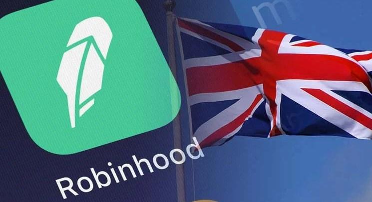 اطلاق تطبيق روبن هود لتداول العملات الرقمية في بريطانيا - تقني نت العملات الرقمية