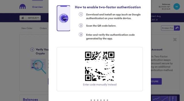 طريقة تفعيل Authenticator على حساب منصة كراكن - تقني نت العملات الرقمية