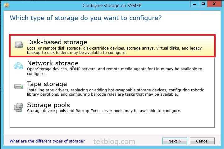 How to configure Storage, Backup Job on Symantec Backup Exec