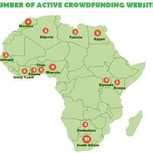 The Geography of Crowdfunding Ecosystem in Africa