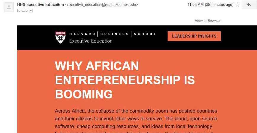 Harvard Leadership Insights—Why African Entrepreneurship is Booming by Ndubuisi Ekekwe