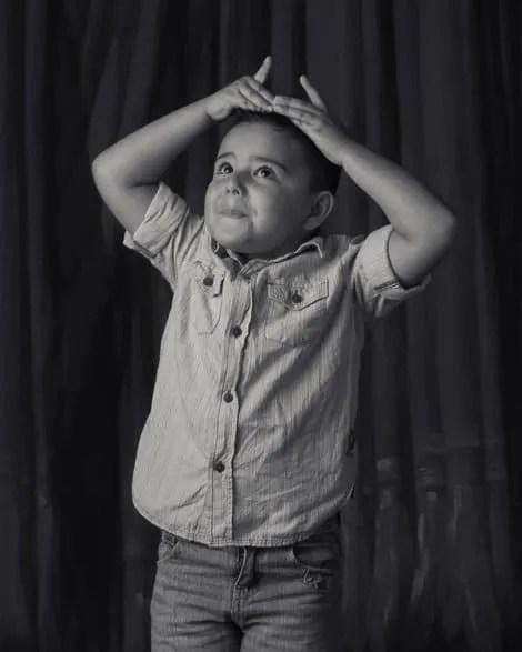 Pedro, Child, Black-and-white, BW, Portrait