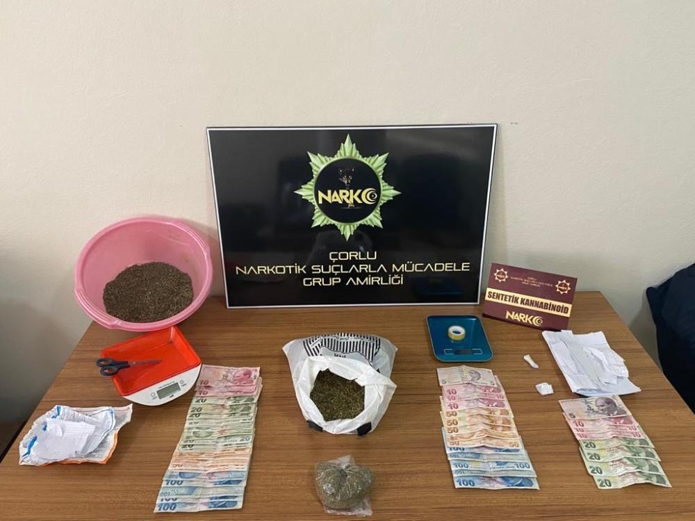 Tekirdağ'daki uyuşturucu operasyonunda 4 tutuklama