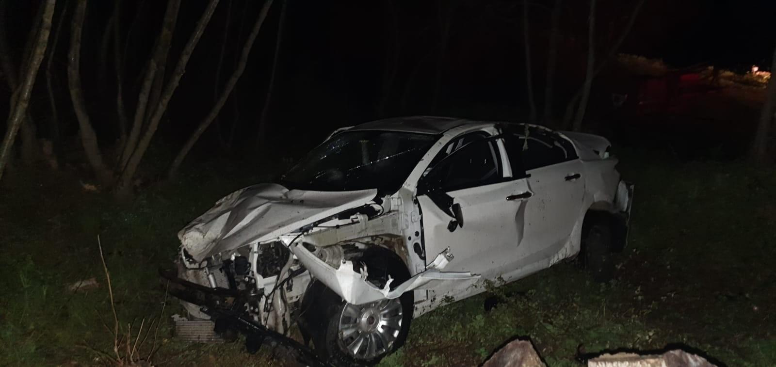 Şarköy'de taklalar atan otomobil hurdaya döndü: 2 yaralı