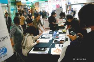 外国人書道体験05