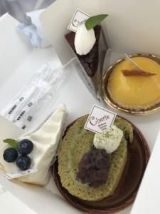 高校生レストランシェリーのケーキ