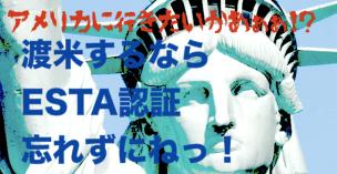 アメリカに行くならエスタの認証を忘れずに