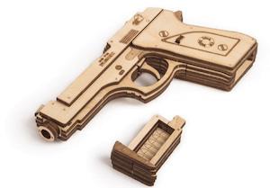 ピストル銃の立体模型パズル