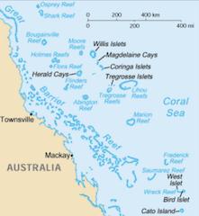 コーラル(珊瑚海)の地図