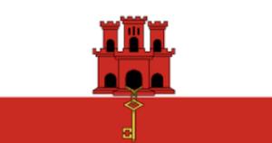 ジブラルタルの国旗 英国海外領土