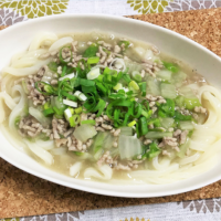 ひき肉と白菜のとろーり簡単あんかけうどん