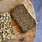 Glutenfrit mørkt kernebrød med hele havrekerner