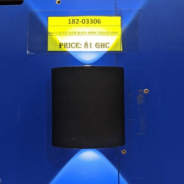 Svet-k B2325 2x1W BLACK 4000K (TEKLED) 40sht